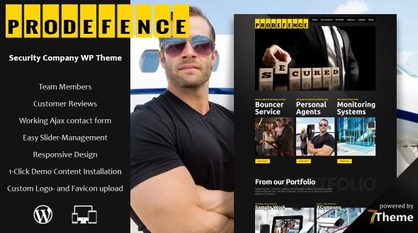 prodefence premium wordpress themes