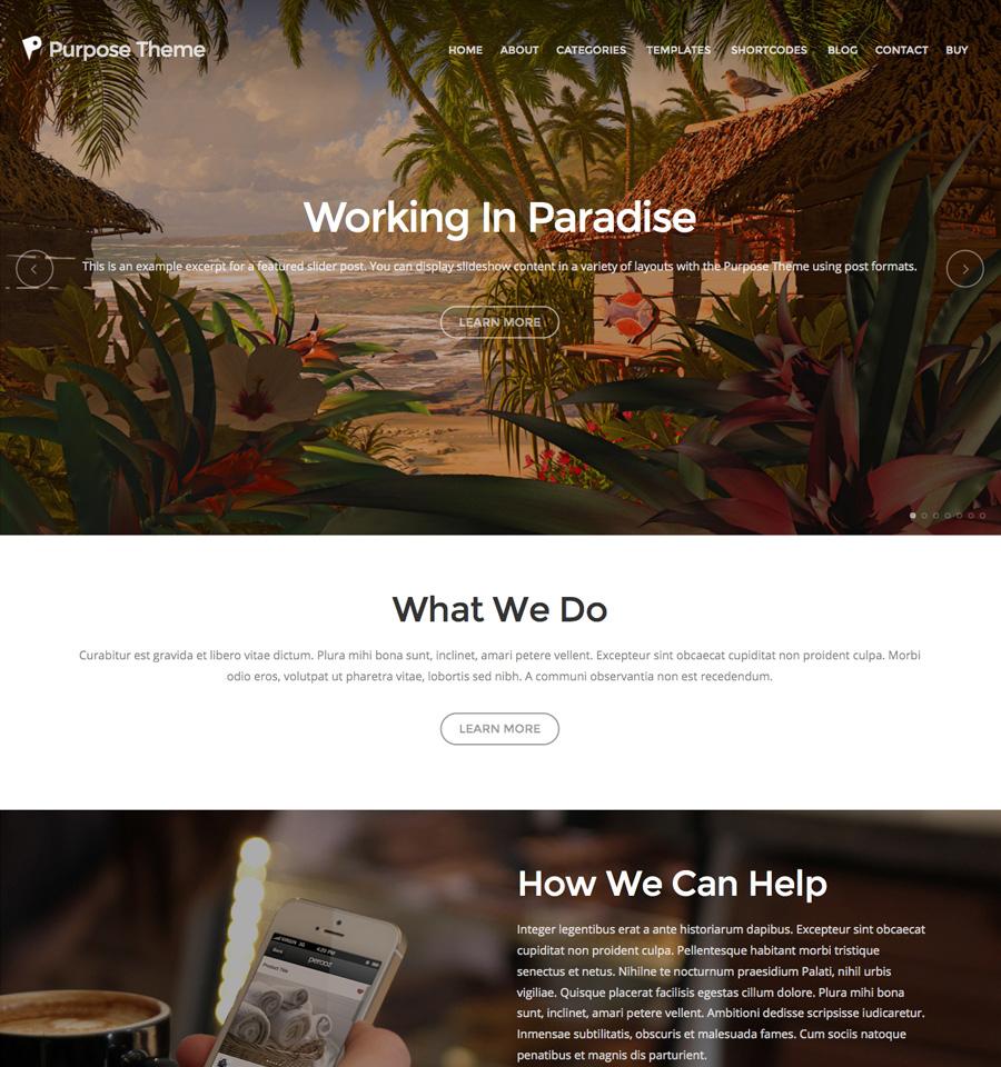 Purpose Theme v1.4 premium wordpress themes