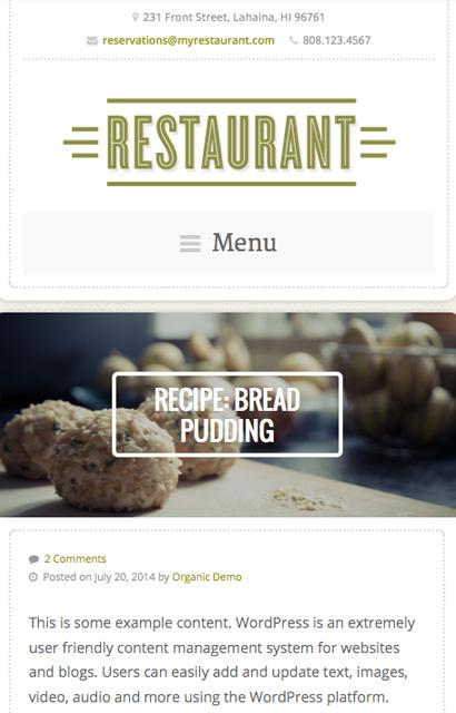 Restaurant Theme v4.4 premium wordpress themes