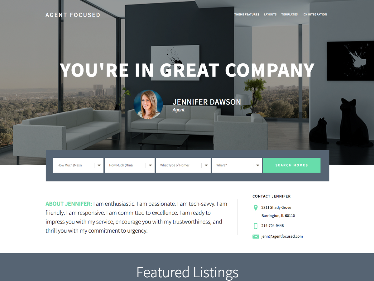 agent focused pro premium wordpress themes