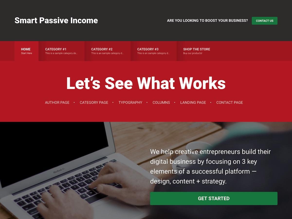 smart passive income premium wordpress themes
