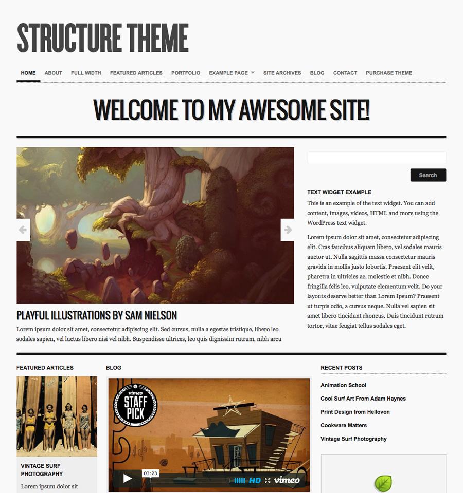 Structure Theme v3.2 premium wordpress themes