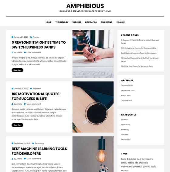 Amphibious premium wordpress themes