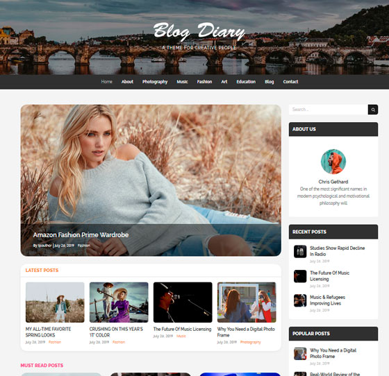 Blog Diary premium wordpress themes