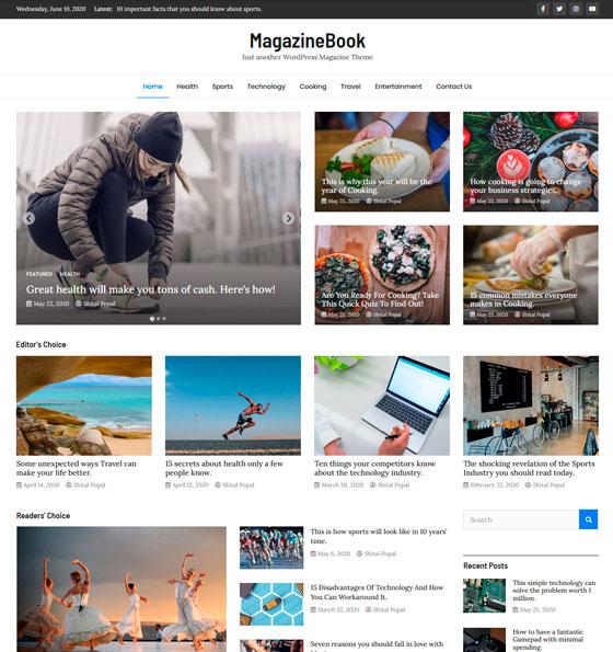 MagazineBook premium wordpress themes
