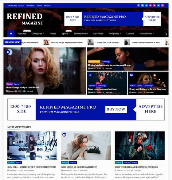Refined Magazine premium wordpress themes