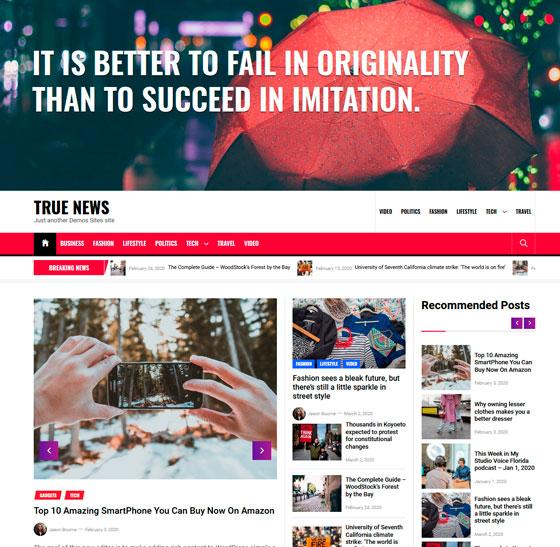 True News premium wordpress themes