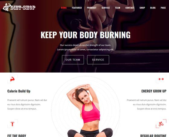 Diet Shop premium wordpress themes