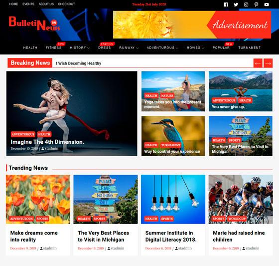 Bulletin News premium wordpress themes