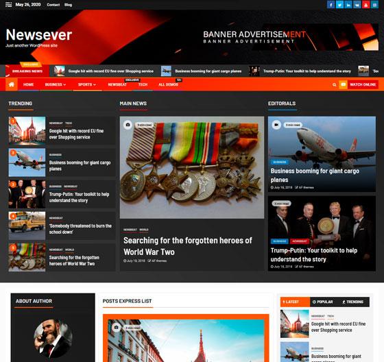 Newsever premium wordpress themes