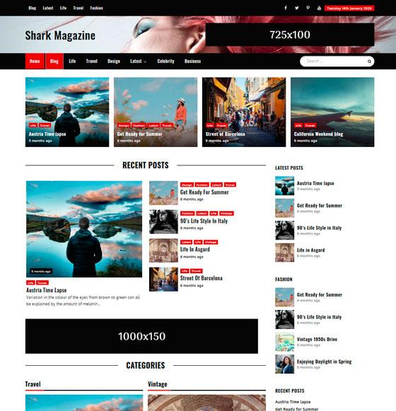 Shark Magazine premium wordpress themes