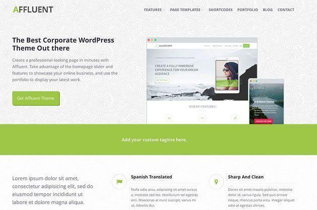 Affluent premium wordpress themes