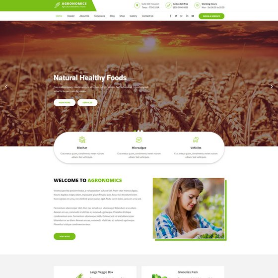 Agronomics Lite premium wordpress themes