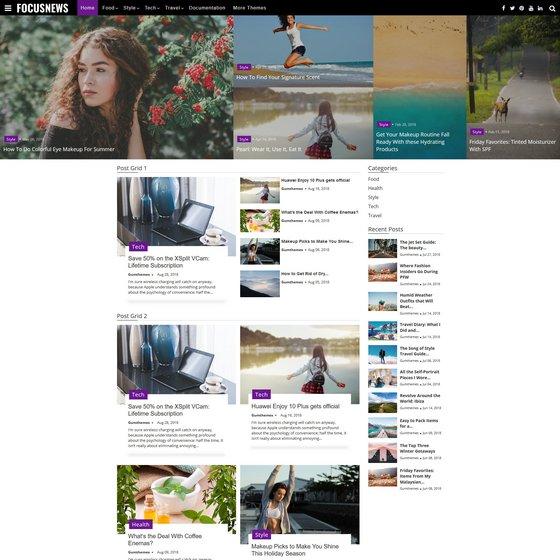 Focus Magazine premium wordpress themes