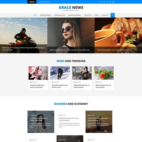 Grace News premium wordpress themes