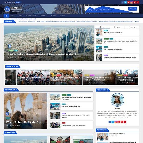Newsup premium wordpress themes