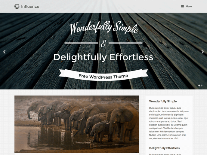 Influence premium wordpress themes