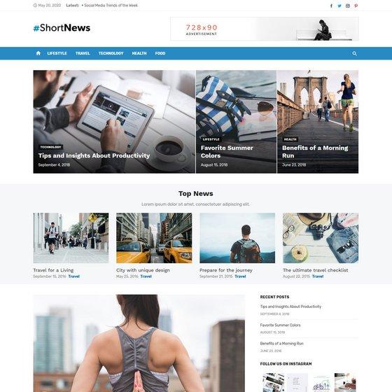 Short News premium wordpress themes