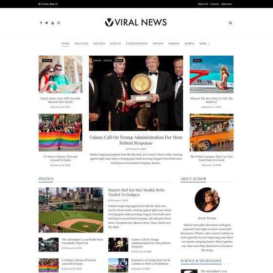 Viral News premium wordpress themes