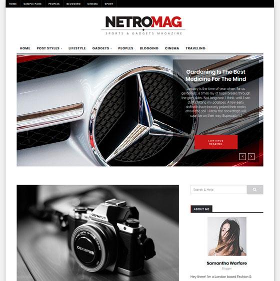 NetroMag premium wordpress themes