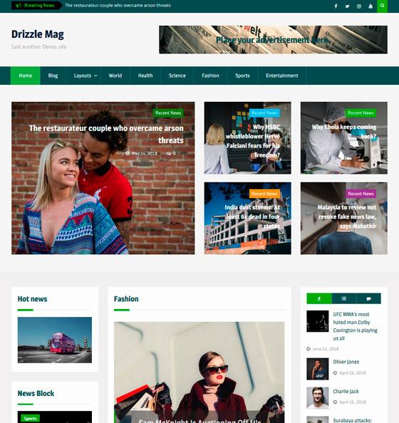 Drizzle Mag premium wordpress themes