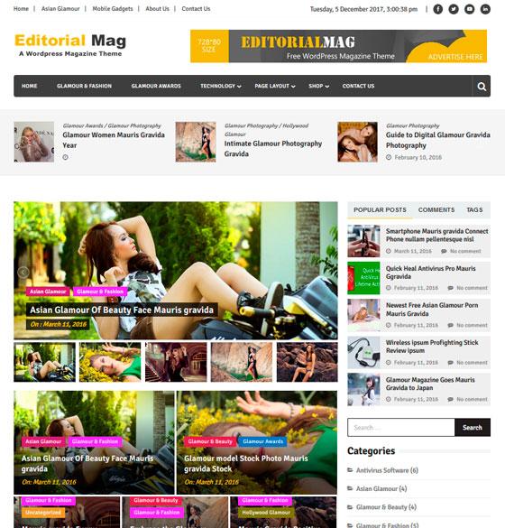 Editorialmag premium wordpress themes