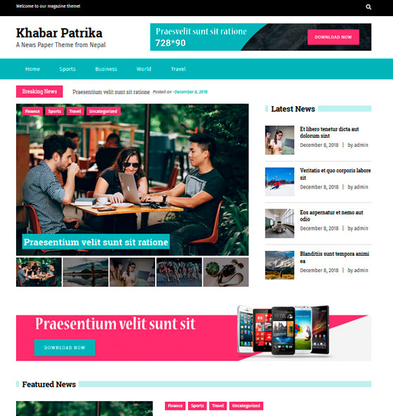 KhabarPatrika premium wordpress themes