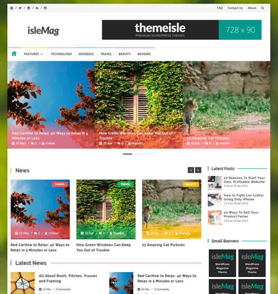 IsleMag premium wordpress themes