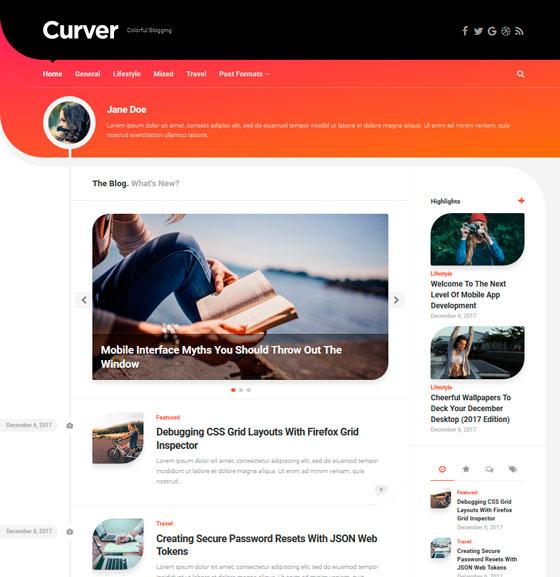 Curver premium wordpress themes