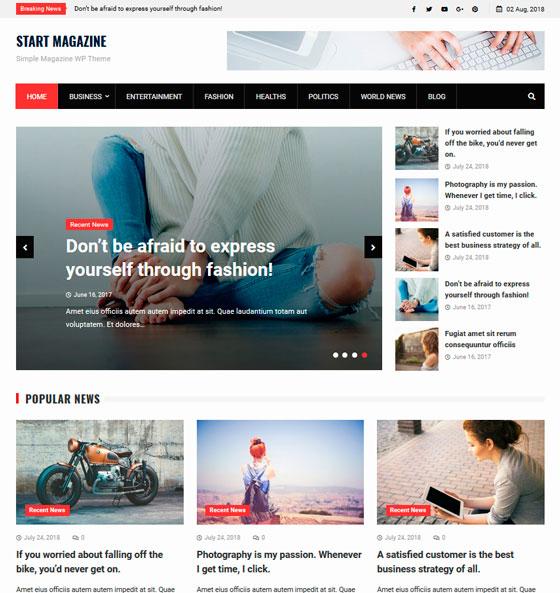 Start Magazine premium wordpress themes