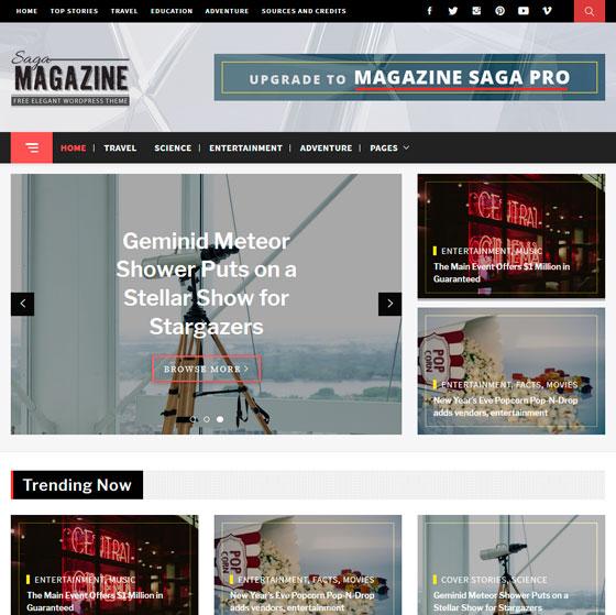 Magazine Saga premium wordpress themes