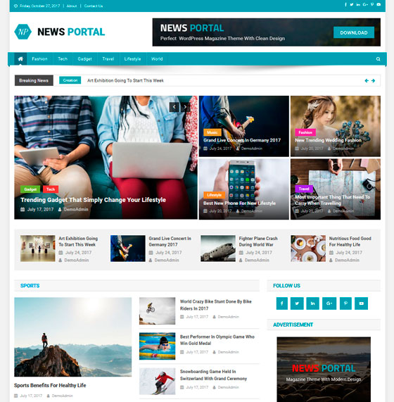 News Portal premium wordpress themes