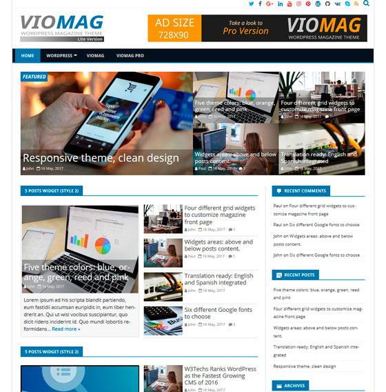 VioMag premium wordpress themes
