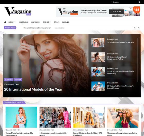 VMagazine Lite premium wordpress themes