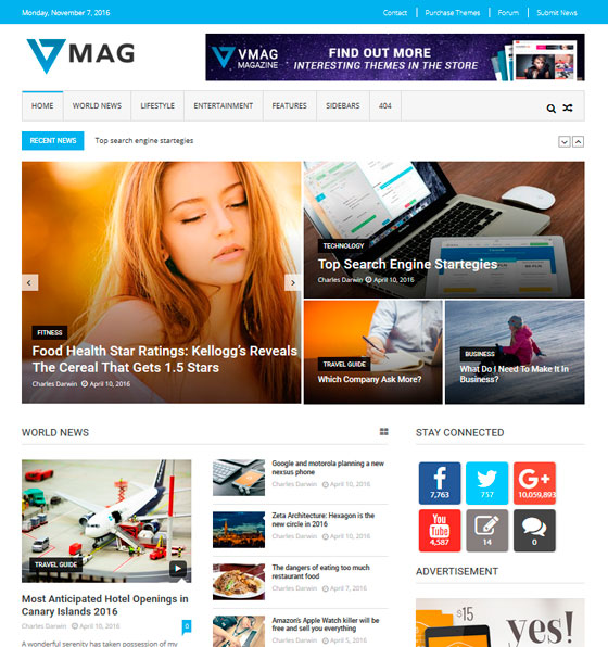 VMag premium wordpress themes