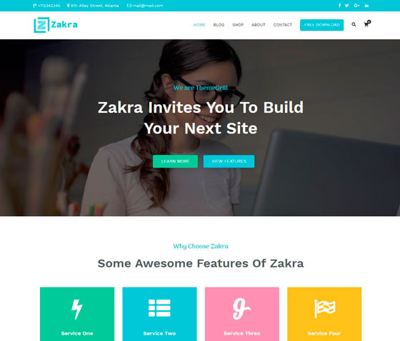 Zakra premium wordpress themes