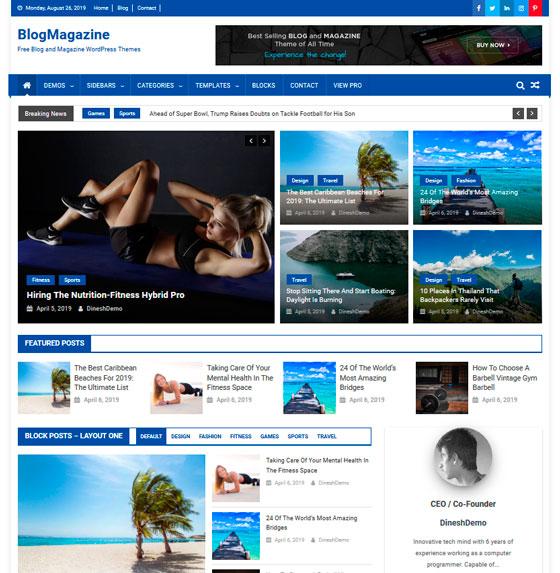 BlogMagazine premium wordpress themes