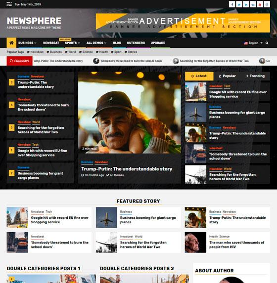 Newsphere premium wordpress themes