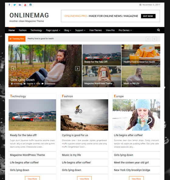 OnlineMag premium wordpress themes