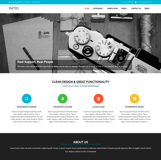 Initio premium wordpress themes