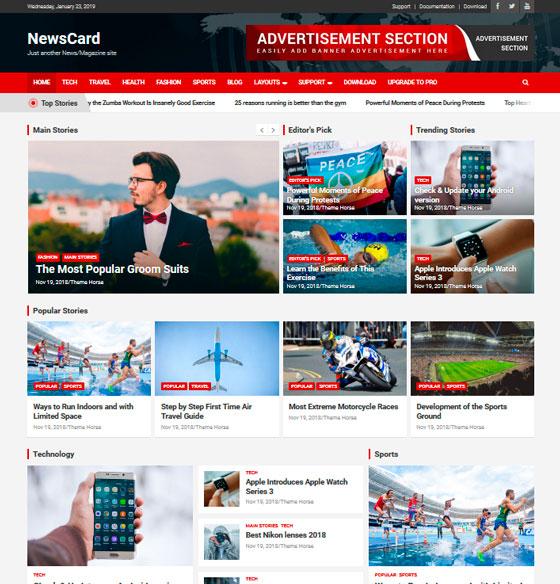 NewsCard premium wordpress themes
