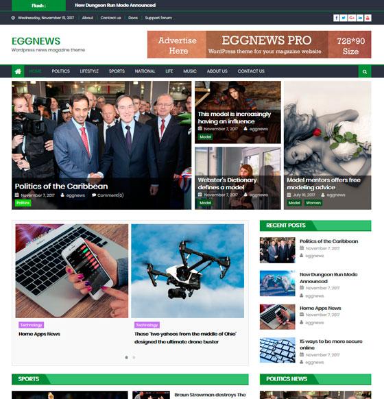 Eggnews premium wordpress themes