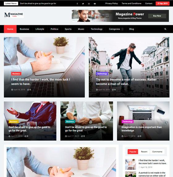 Magazine Power premium wordpress themes