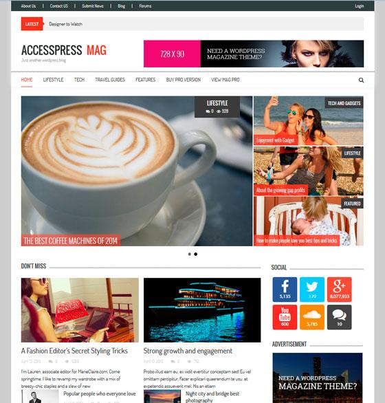 AccessPress Mag premium wordpress themes