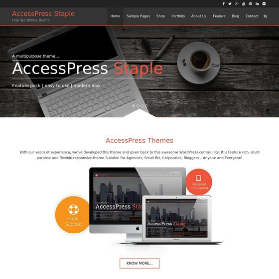 AccessPress Staple premium wordpress themes