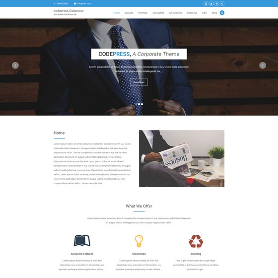 Codepress Corporate premium wordpress themes