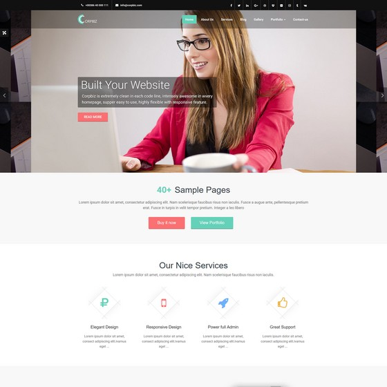 Corpbiz premium wordpress themes