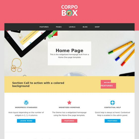 Corpobox Lite premium wordpress themes