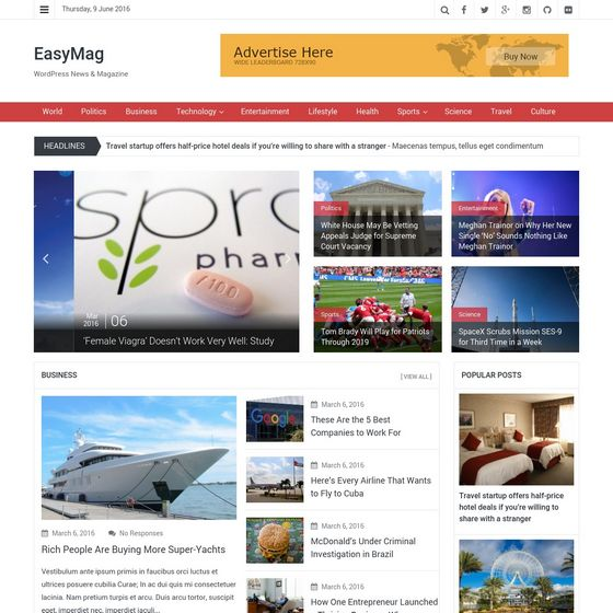 EasyMag premium wordpress themes