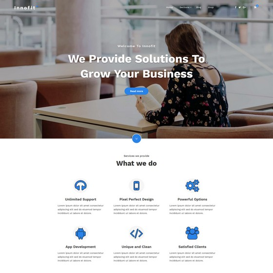 Innofit premium wordpress themes